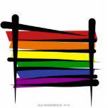 Bandera del cepillo del orgullo gay del arco iris esculturas fotográficas
