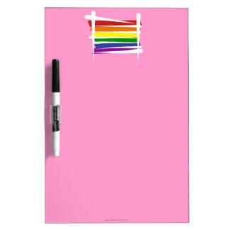 Bandera del cepillo del orgullo gay del arco iris pizarra