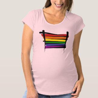 Bandera del cepillo del orgullo gay del arco iris remeras