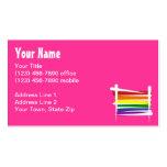Bandera del cepillo del orgullo gay del arco iris tarjetas de visita