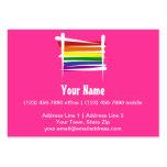 Bandera del cepillo del orgullo gay del arco iris tarjetas de visita grandes