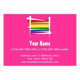 Bandera del cepillo del orgullo gay del arco iris tarjetas personales