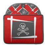 Bandera del cepillo del pirata fundas macbook pro