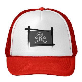 Bandera del cepillo del pirata gorra