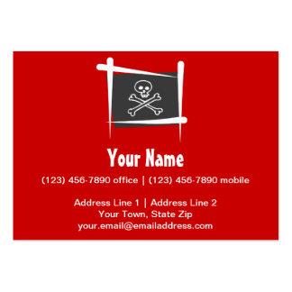 Bandera del cepillo del pirata tarjetas de visita grandes