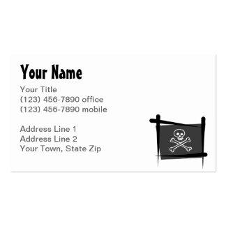 Bandera del cepillo del pirata tarjetas de visita