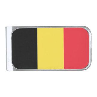 Bandera del clip del dinero de Bélgica Clip Para Billetes Plateado