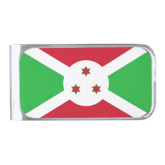 Bandera del clip del dinero de Burundi Clip Para Billetes Plateado