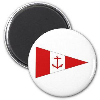 Bandera del club de la navegación de Derg del lago Imán Redondo 5 Cm