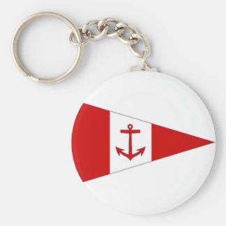 Bandera del club de la navegación de Derg del lago Llavero Redondo Tipo Pin