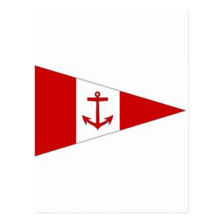Bandera del club de la navegación de Derg del lago Postales