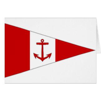 Bandera del club de la navegación de Derg del lago Tarjeta De Felicitación