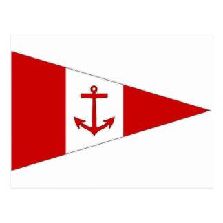 Bandera del club de la navegación de Derg del lago Tarjetas Postales