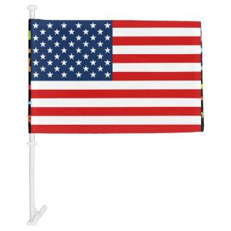 Bandera del coche de la bandera americana