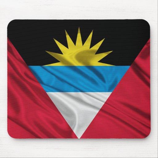 Bandera del cojín de ratón de Antigua y de Barbuda Tapete De Ratones