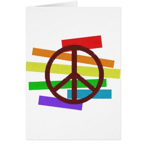 bandera del color de la paz paño-como tarjeta