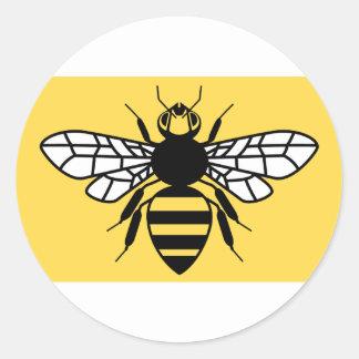 Bandera del condado de mayor Manchester Pegatina Redonda