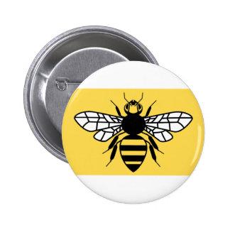 Bandera del condado de mayor Manchester Pin Redondo De 2 Pulgadas