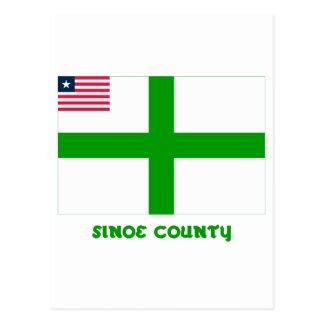 Bandera del condado de Sinoe con nombre Postales