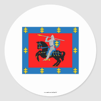 Bandera del condado de Vilna Pegatina Redonda