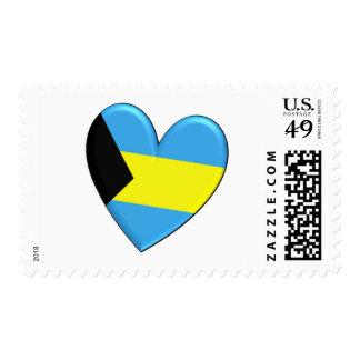 Bandera del corazón de Bahamas Sellos