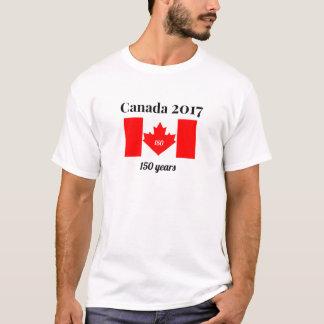 Bandera del corazón de Canadá 150 en 2017 Playera