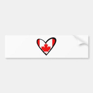 Bandera del corazón de Canadá Pegatina Para Auto