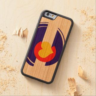 Bandera del corazón de Colorado Funda De iPhone 6 Bumper Cerezo
