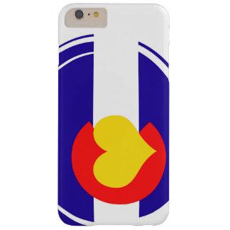 Bandera del corazón de Colorado Funda Para iPhone 6 Plus Barely There