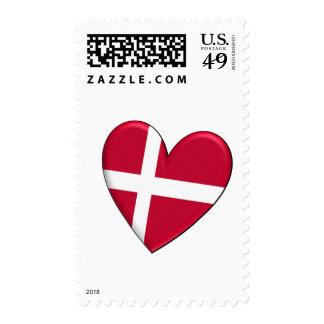 Bandera del corazón de Dinamarca Sello
