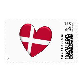 Bandera del corazón de Dinamarca Sellos