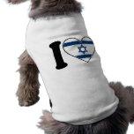 Bandera del corazón de Israel Camisa De Perrito
