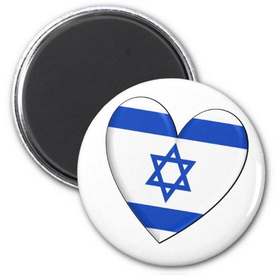 Bandera del corazón de Israel Imán Redondo 5 Cm