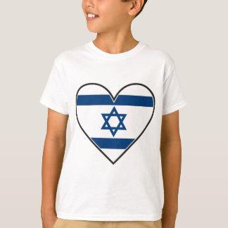 bandera del corazón de Israel Playera