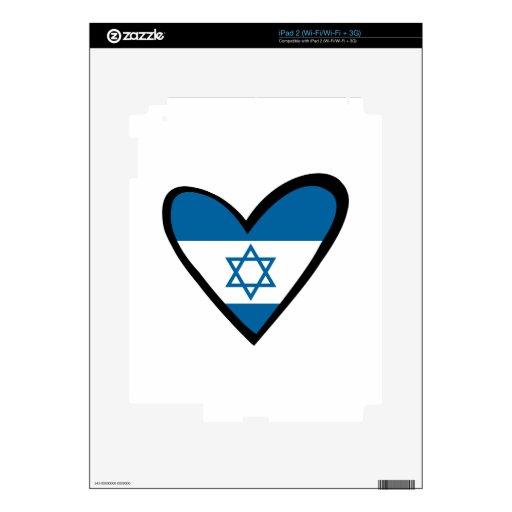 Bandera del corazón de Israel Skins Para eliPad 2