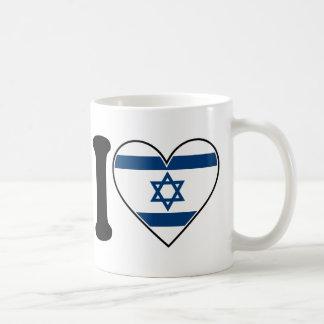 Bandera del corazón de Israel Taza De Café