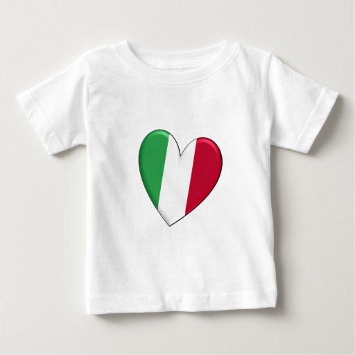 Bandera del corazón de Italia Camiseta