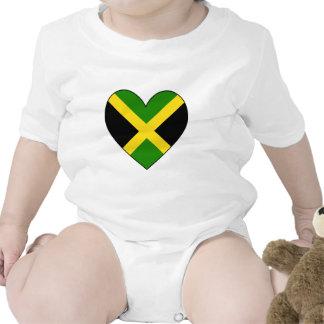 Bandera del corazón de Jamacian Trajes De Bebé