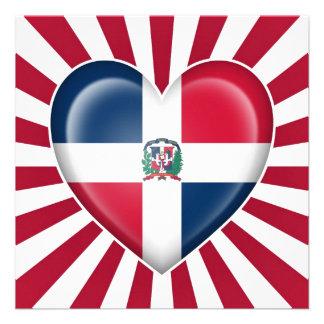 Bandera del corazón de la República Dominicana con Invitaciones Personales