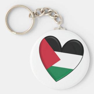 Bandera del corazón de Palestina Llavero