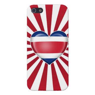 Bandera del corazón de Rican de la costa con los r iPhone 5 Coberturas