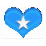 Bandera del corazón de Somalia Postal