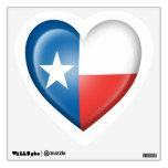 Bandera del corazón de Tejas en blanco