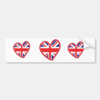 Bandera del corazón de Union Jack Pegatina Para Auto
