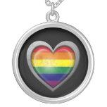 Bandera del corazón del arco iris del orgullo gay  grimpola personalizada