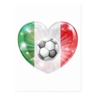 Bandera del corazón del fútbol de la bandera de It Tarjetas Postales