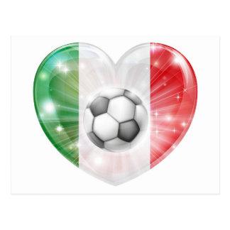 Bandera del corazón del fútbol de la bandera de It Postal