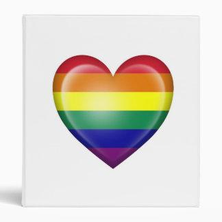 Bandera del corazón del orgullo gay del arco iris