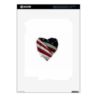 bandera del corazón pegatinas skins para iPad 3