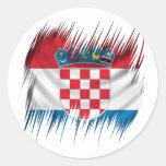 Bandera del croata de las trituradoras etiquetas